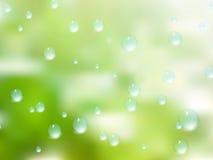 Gotas naturales del agua sobre el vidrio EPS10 más Imagen de archivo