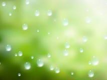 Gotas naturales del agua sobre el vidrio EPS10 más Foto de archivo libre de regalías