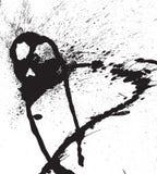 Gotas negras abstractas del aerosol del vector Foto de archivo