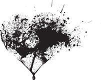 Gotas negras abstractas del aerosol del vector Imagenes de archivo
