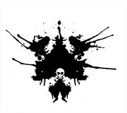 Gotas negras abstractas del aerosol del vector Imágenes de archivo libres de regalías