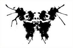 Gotas negras abstractas del aerosol del vector Fotografía de archivo libre de regalías
