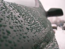 Gotas no carro Foto de Stock