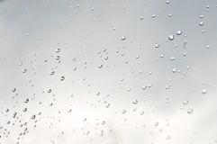 Gotas no vidro Fotografia de Stock