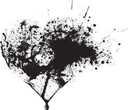 Gotas pretas abstratas do pulverizador do vetor Imagens de Stock