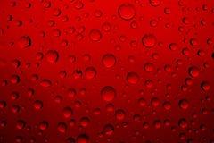 Gotas rojas Imágenes de archivo libres de regalías
