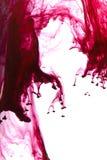 Gotas rojas de la tinta Foto de archivo libre de regalías