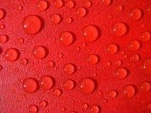 Gotas rojas del agua Imagen de archivo