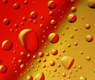 gotas Rojo-amarillas Fotografía de archivo