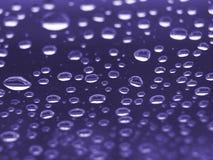 Gotas roxas Fotografia de Stock Royalty Free