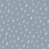 Gotas sem emenda da chuva no cinza Fotografia de Stock