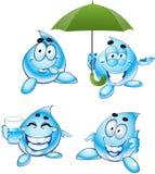 Gotas sonrientes del agua clara Imagenes de archivo