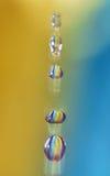 Gotas travadas Foto de Stock