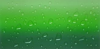 Gotas verdes imagem de stock