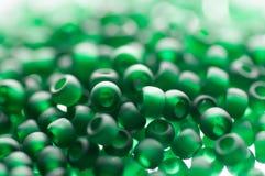 Gotas verdes de la semilla Fotografía de archivo libre de regalías