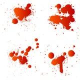 Gotas vermelhas Fotografia de Stock