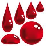 Gotas vermelhas Imagens de Stock Royalty Free