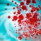 gotas vermelhas do divertimento Foto de Stock Royalty Free