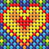 Gotas y corazón Imagen de archivo libre de regalías