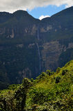 Gotca waterfall. Scenic view of Gotca waterfall in province of Chachapoyas in Amazonas, Peru Royalty Free Stock Image