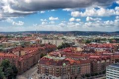 Goteborg, Svezia - luglio 2017: Panoramica della città di Gothenburg dalla ruota di ferris Immagini Stock