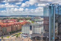 Goteborg Szwecja, Lipiec, -, 2017: Gothia Góruje wczesnego poranek, Gothia Góruję jest Scandinavia ` s wielkim hotelem, lokalizow Zdjęcia Stock