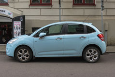 Light blue Citroen C3 car in Goteburg Royalty Free Stock Photography
