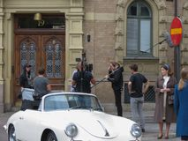 Shooting a film in Goteburg Stock Photography