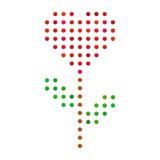 Gotee, caramelo que los espolones coloridos florecen con forma del corazón stock de ilustración