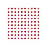 Gotee, sistema rojo colorido del tono del caramelo, sistema del lápiz labial ilustración del vector