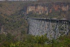 Goteik wiadukt w Myanmar Obraz Stock