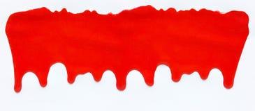 Gotejamento da cor vermelha, fundo deixando cair da cor Imagem de Stock Royalty Free
