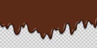 Gotejamento derretido do chocolate ilustração do vetor