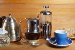 Gotejamento do café Imagem de Stock