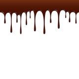 Gotejamento do chocolate, vetor do fundo do chocolate Foto de Stock Royalty Free