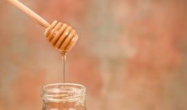 Gotejamento do mel Imagem de Stock Royalty Free
