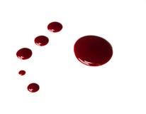 Gotejamento do sangue Fotografia de Stock Royalty Free