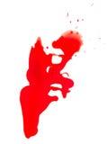 Gotejamento do sangue Fotos de Stock Royalty Free