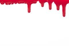 Gotejamentos do sangue que oozing fotografia de stock