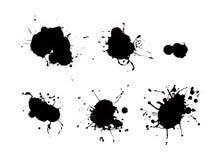Gotejamentos pretos da pintura ilustração do vetor