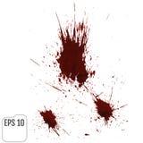 Gotejamentos realísticos do sangue Respingo e pulverizador do sangue Vetor ilustração stock
