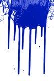 Goteo azul de la pintura Fotografía de archivo