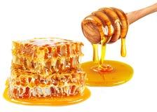 Goteo de la miel Imágenes de archivo libres de regalías