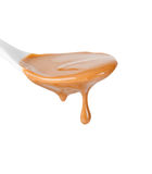 Goteo de la salsa del caramelo fotos de archivo