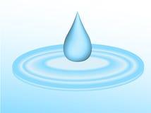 Goteo del agua en charco Fotos de archivo libres de regalías