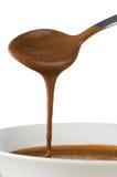 Goteo del chocolate Foto de archivo