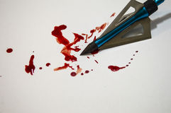 Goteo principal de la flecha con sangre Imágenes de archivo libres de regalías