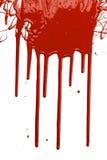 Goteo rojo de la pintura Foto de archivo libre de regalías