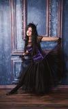 Goth女孩 库存图片