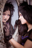 Goth女孩 免版税库存图片